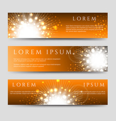 golden flashes and stars banners collection vector image vector image
