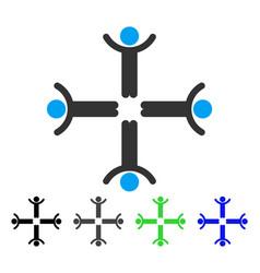 Hands up men flat icon vector