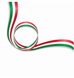 hungarian wavy flag background vector image