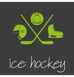 ice hockey sport commercial design banner and vector image vector image