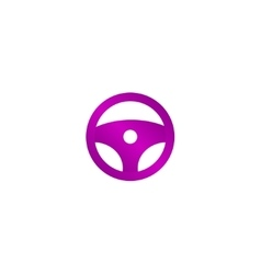 icon steering wheel vector image