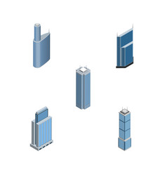 Isometric skyscraper set of skyscraper building vector
