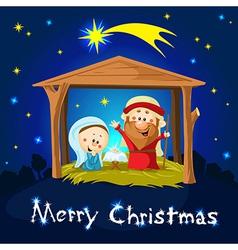 merry xmas Nativity in Bethlehem - Christmas vector image vector image