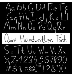 Quick handwritten font Expression hand drawn vector image