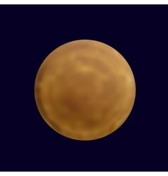 Realistic full mercury in the dark blue sky vector