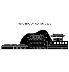 Republic of korea jeju architecture city vector