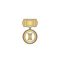 Silver medal computer symbol vector