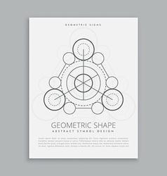 spiritual sacred geometry vector image