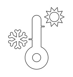 Thermometer the black color icon vector