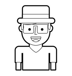 Tourist man avatar character vector