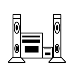 home theater music video appliance outline vector image