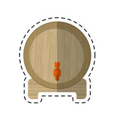 Cartoon wine barrel faucet wooden vector