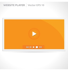 Website slideshow template vector