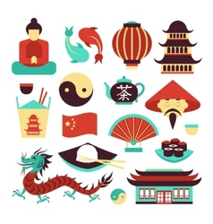 China symbols set vector