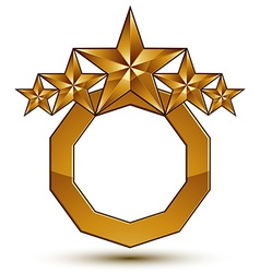 Royal golden geometric symbol with white copy vector