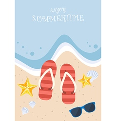 Summertime on the beach vector