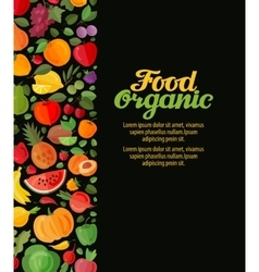 Fruits and vegetables organic food vector