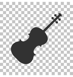 Violine sign  dark gray icon on vector