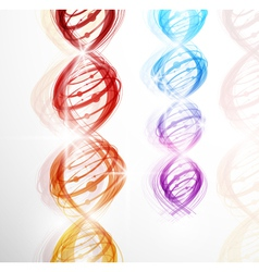 abstract dna background vector image