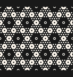 abstract geometric seamless hexagonal pattern vector image