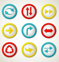 Arrow buttons vector image vector image