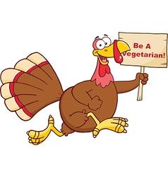Christmas and thanksgiving turkey cartoon vector image vector image