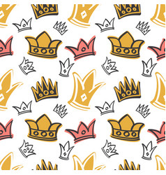 Cute princess birthday seamless pattern vector