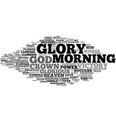 Glory word cloud concept vector