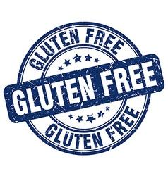 gluten free blue grunge round vintage rubber stamp vector image