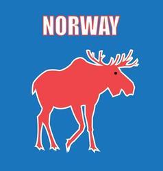 Graphic color design a symbol norway elk vector