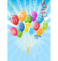happy balloons vector image vector image