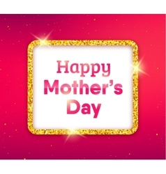 Happy Mothers Day typography greeting card vector image vector image