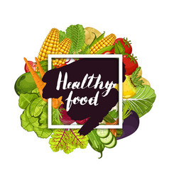 Healthy farm food banner with vegetable vector
