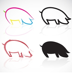 Image of an pigs vector