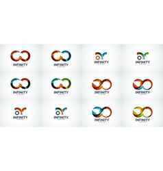 Infinity company logo icon set vector