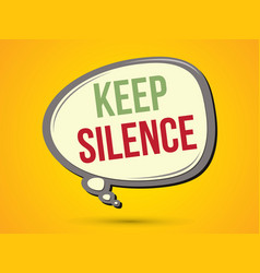 Keep silence text in balloons vector