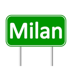 Milan road sign vector