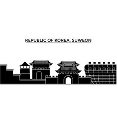 republic of korea suweon architecture city vector image