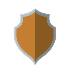 Shield protection secure element shadow vector