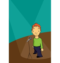 stand up comedian vector image vector image