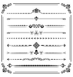 vintage set of ector horizontal elements vector image vector image