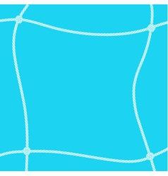 White rope square frame vector