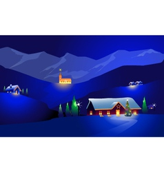 Winter landscape and happy chrirstmas vector
