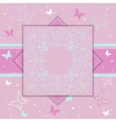 Elegant template luxury invitation gift card vector image