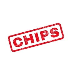 Chips text rubber stamp vector