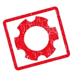 Gear icon rubber stamp vector