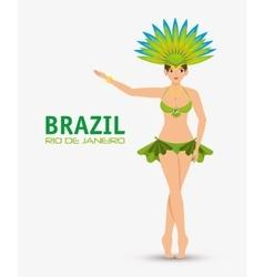 Character garota brazil rio de janeiro design vector