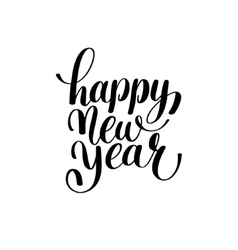 Happy new year hand lettering congratulate vector