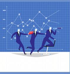 Leadership teamwork concept vector