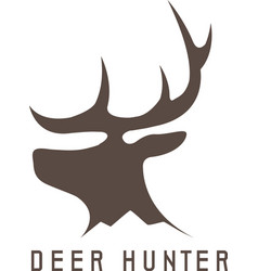 Deer head design templatehunting vector